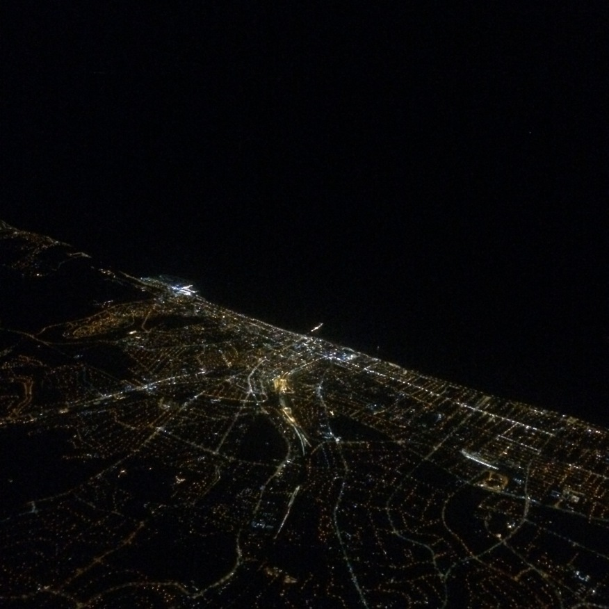 Views from the plane across Brighton