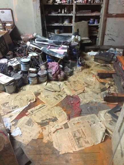 Francis Bacon's studio: reconstructed piece by piece in an archaelogical archive at the Hugh Lane Gallery